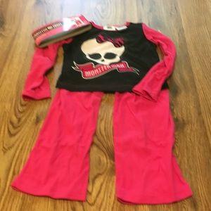 Monster High Girl's 2-Pc Pajamas NWT Sz 4/5💕💀💕